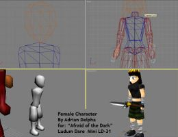 Girl Character Wip Ludum Dare Mini -31 by DelphaDesign