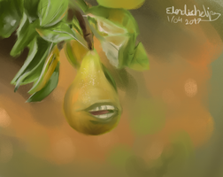 lolwut pear thing by ElendichElipse