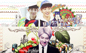 Hpbd Kris-Chanyeol by DelAbstyle