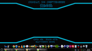 TRON Rainmeter by SYNTHES1SE
