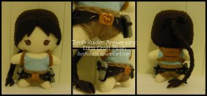 Tomb Raider Anniversary: Lara Croft Plush by StitchedAlchemy