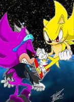 Super Sonic VS Super Scourge by 5courgesbestbuddy