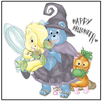 Gummi Bears:Happy HalloweenCOL by RedPanda-chan