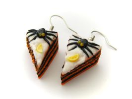Halloween Cake Earrings 1 by PumpkinDream