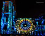 Illuminations Cathedrale 2016 - Deep Blue Rosace by Cloudwhisperer67