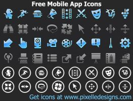 Free Phone App Icons by Ikont