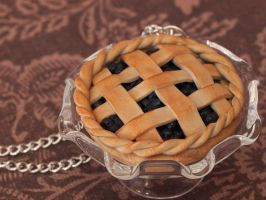 Blueberry Pie Pendant by DeliciousTrickery