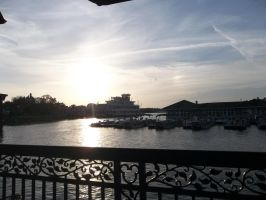 Sunset at Downtown Disney by vanazza