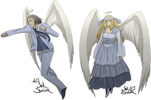 Guardian Angel and Angel of Kindness by ChannelerJaydin