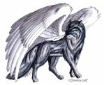 big winged wolf by Footroya