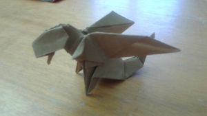 Origami Chibi Dragon - first version by FejesValentin