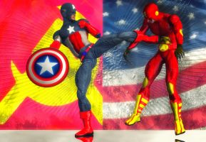 Cap America vs Kolonnel Soviet by hiram67