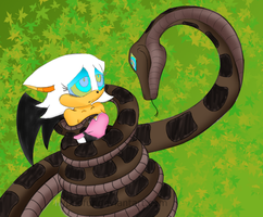 Kaa and the thief colored. by Lompich
