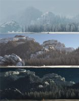 Time Circuit  (Dawn - Noon - Night) by 3DLandscapeArtist