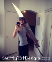 6.5 Foot Tall- Fully Aluminum Pyramid Head Sword by Smitty-Tut