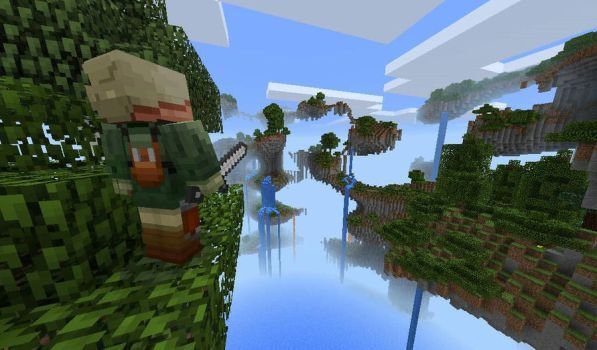Minecraft floating world by Redstone-Soul