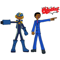 Game Tagged:Megaman and Phoenix Wright by Ask-Dt