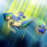 Peacock Guppy Mermaid by CatnipPacket