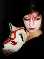 Shiranui and Amaterasu Mask by Indigo-Maverick