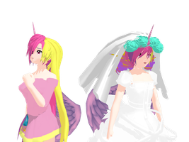 MMD: Cadence and Chrysa- Cadence DL by BlackHeartGoddess