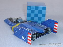 Blue Falcon de Papel_3 by Dil1880