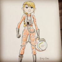 x-wing fighter Astrid by kenjiono