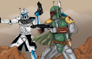 Boba Fett n Captain Rex by Ravyn916