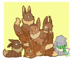 Eevee Family by Star-Swirls
