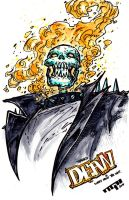 Ghost Rider Sketch by TaylorGarrity