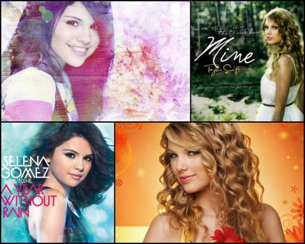 Selena and Taylor Wallpaper by MissMysticDream