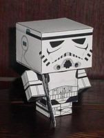 Stormtrooper cubeecraft by paperart