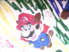 Flying Mario by nike1221