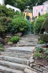 Portmeirion Village Steps by GRANNYSATTICSTOCK