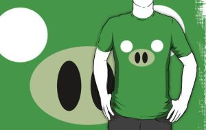 Angry Birds - Pig T-Shirt by drg