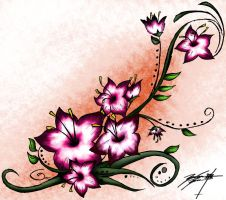 Cherry Blossom Henna Tattoo 2 by LSD-ForTheMasses