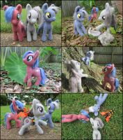 Posable Needle Felted Pony Trio by SnowFox102