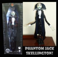 Phantom Jack Skellington doll by KatMaz