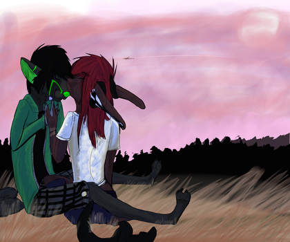 Drunk off nothin but each other til the sunrise by Mukawoof