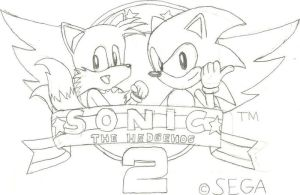 Sonic the Hedgehog 2 Title Screen by CharlesBulbmin