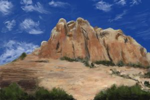 Practice 0073 Desert Rock 07 after greenleaf-stock by ludwig-a
