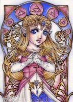 ATC: Chibi-Princess Zelda by 1000Dreams