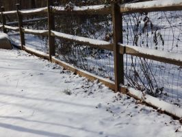 Snowy Fence by coolsillvergal