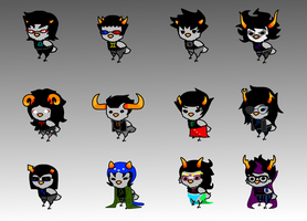 Homestuck Chickens by hotcoco7946