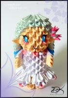 BirthDay Fairy  - 3D Origami - by Delinlea