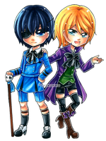 Ciel and Alois by Chikukko