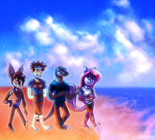 Walking in the beach by Gamibrii