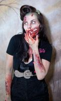 Zombie girl portrait contest entry by magikstock