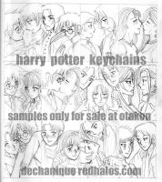 harry potter keychains sketch by DeannaEchanique