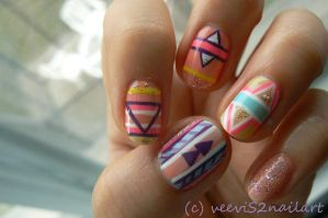 Easter / Native nail arts design by VeeviS2