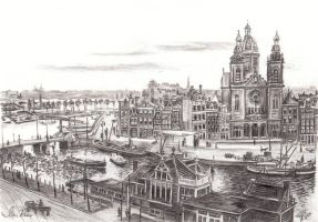 St. Nicolas Kerk Harbor View by reesmeister
